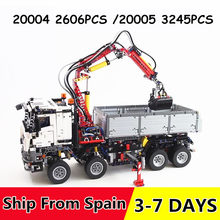 20004 20005 Technic Series Power Motor Race Car Remote Control Building blocks Brick Compatible with 42043 42009(China)
