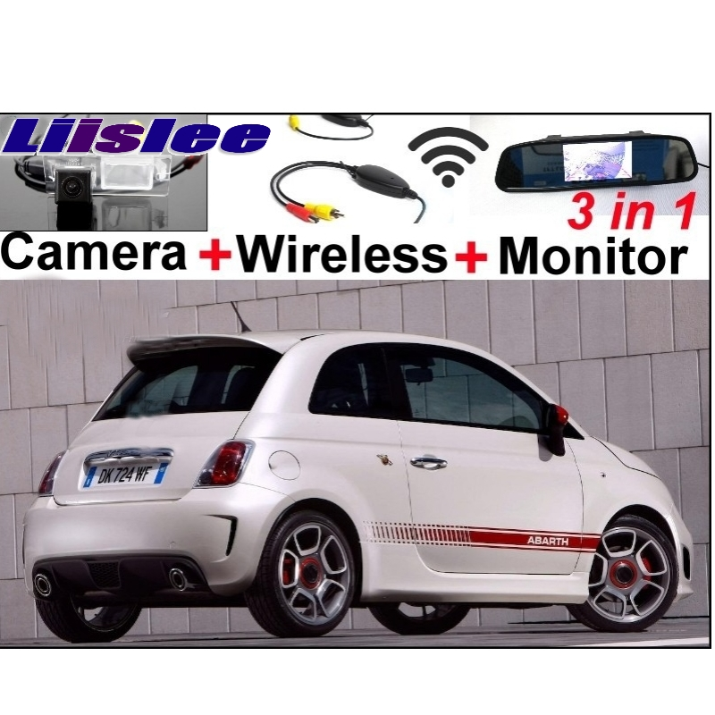 Liislee Special Car Camera Wireless Signal + Mirror Monitor 3in1 Easy Parking System For New Fiat 500 500C 500S Abarth 2007~2017 abarth фиат ритмо запчасть