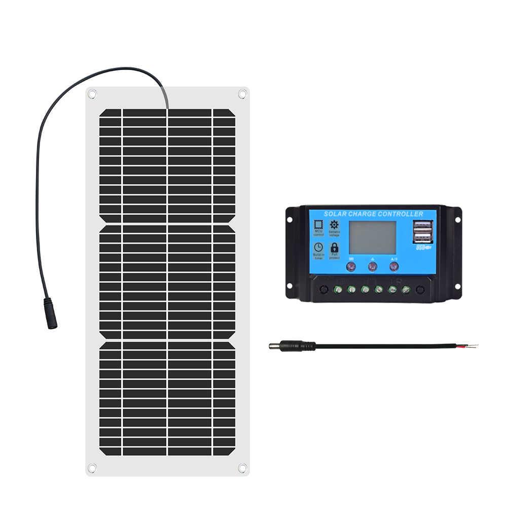 Xinpuguang Flexibles Solarmodul 18 Volt 10 Watt 20 Watt mit 10A Controller für 12 Volt Batterie Wandern Auto & Boot Licht Ladegerät flexible solar panel cell 10w 20w 12v