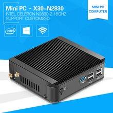 Intel Celeron Mini PC N2830 4GB DDR3L 60GB SSD Windows Linux Small Desktop Computer HDMI VGA