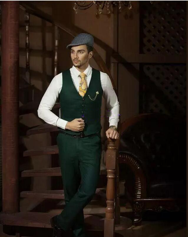 new color Hot Recommend Dark hunter Green Groom Tuxedos Notch ...