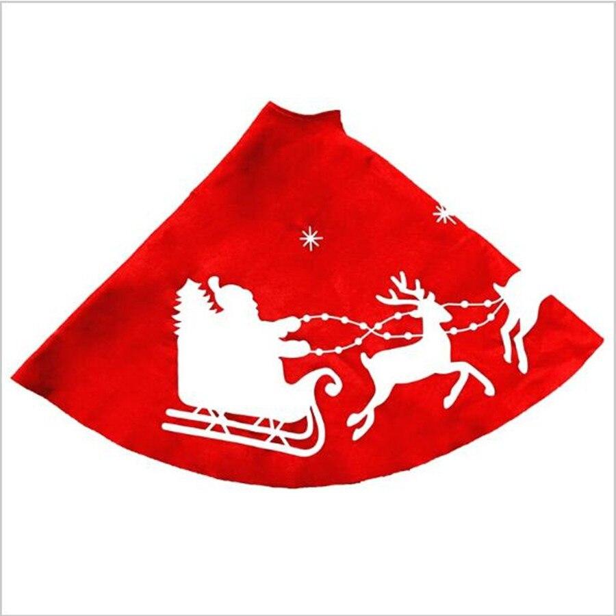 Aliexpress.com : Buy 100cm Red Christmas Tree Skirt Round ...