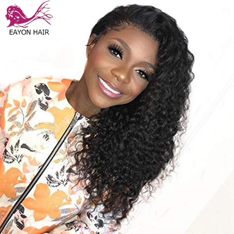 EAYON HAIR Glueless Full Lace Human Hair Wigs Loose Curly Remy Wigs For Black Women With