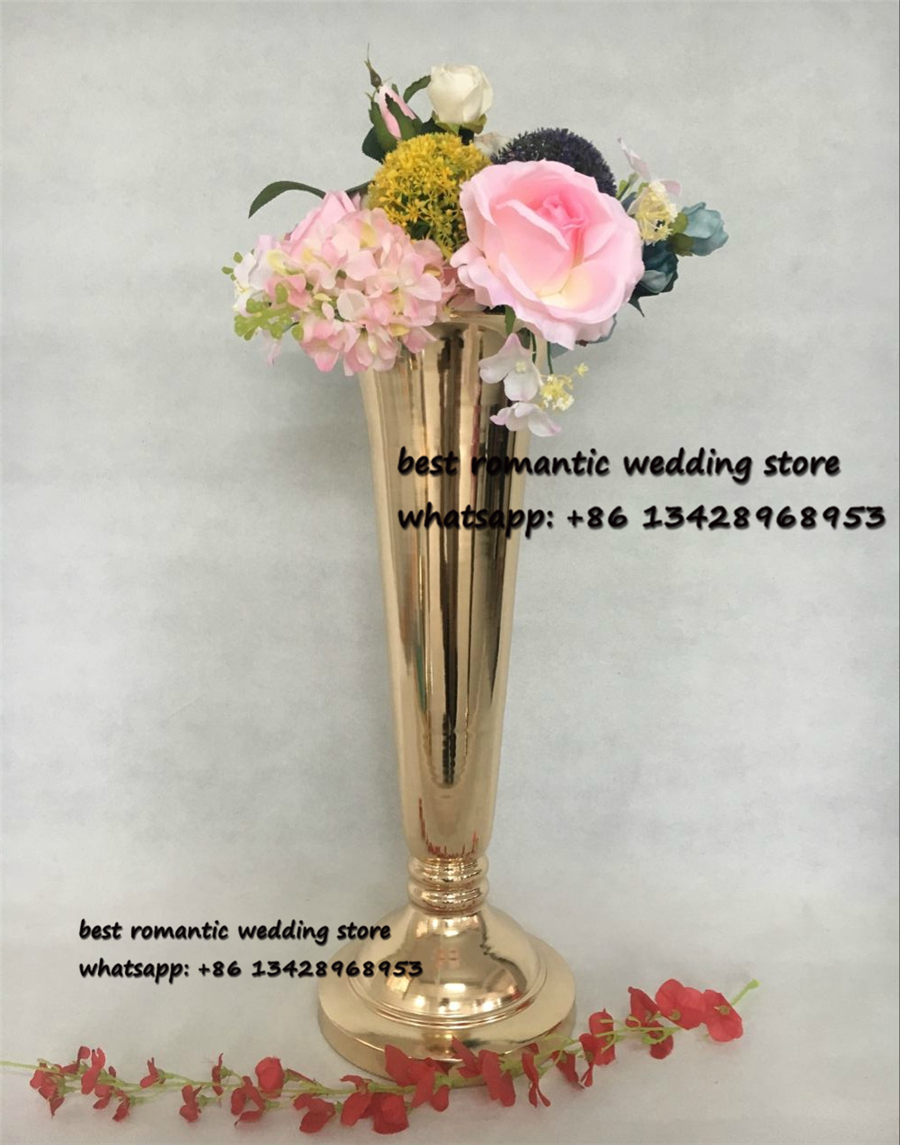 10pcs/lot gold metal wedding table centerpiece weddng flower stand ...