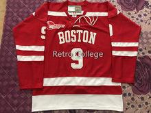 5ea319d14e8 9 Jack Eichel Wisconsin Badgers Rot MÄNNER Eis Hockey Jersey Stickerei  Genäht Fertigen jede nummer und name