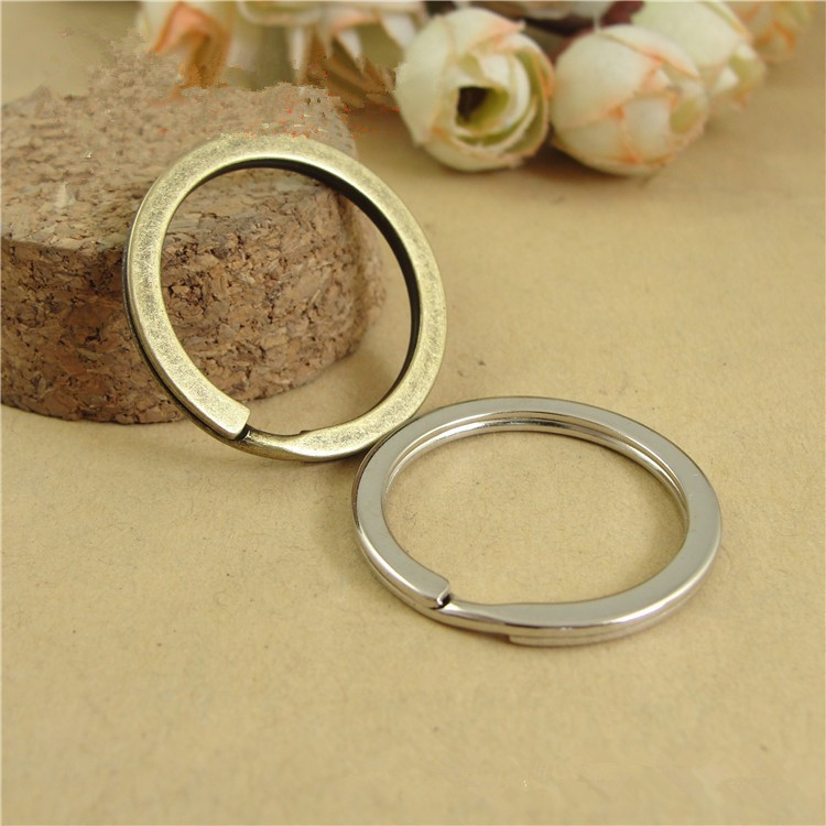 20pcs/lot Antique Bronze/ Rhodium Keychain Circle Keyring Findings Fit DIY Keychain Ring Circles Accessories 20pcs lot ls30 to252