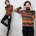 Sweaters 2017 Women Fashion British Style Jacquard High Quality Turtleneck Pullover Casual Women Sweater Free Shipping