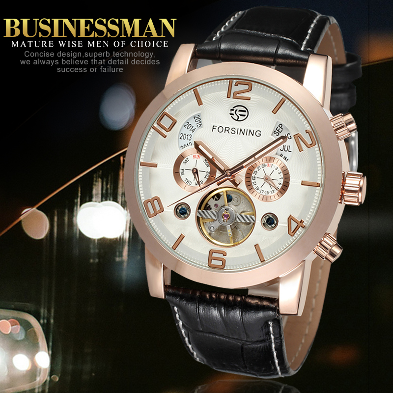 Automatic Business Fashion Watch for Menwith Black Genuine Leather Strap Gift BoxAutomatic Business Fashion Watch for Menwith Black Genuine Leather Strap Gift Box