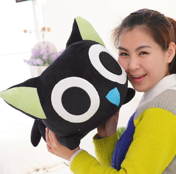 60cm Aninmal Black Cats Plush Toy Animals Stuffed Plush toys for Children Caushion Pillow Dolls Soft Kids Toys Gift lps lps toy bag 20pcs pet shop animals cats kids children action figures pvc lps toy birthday gift 4 5cm