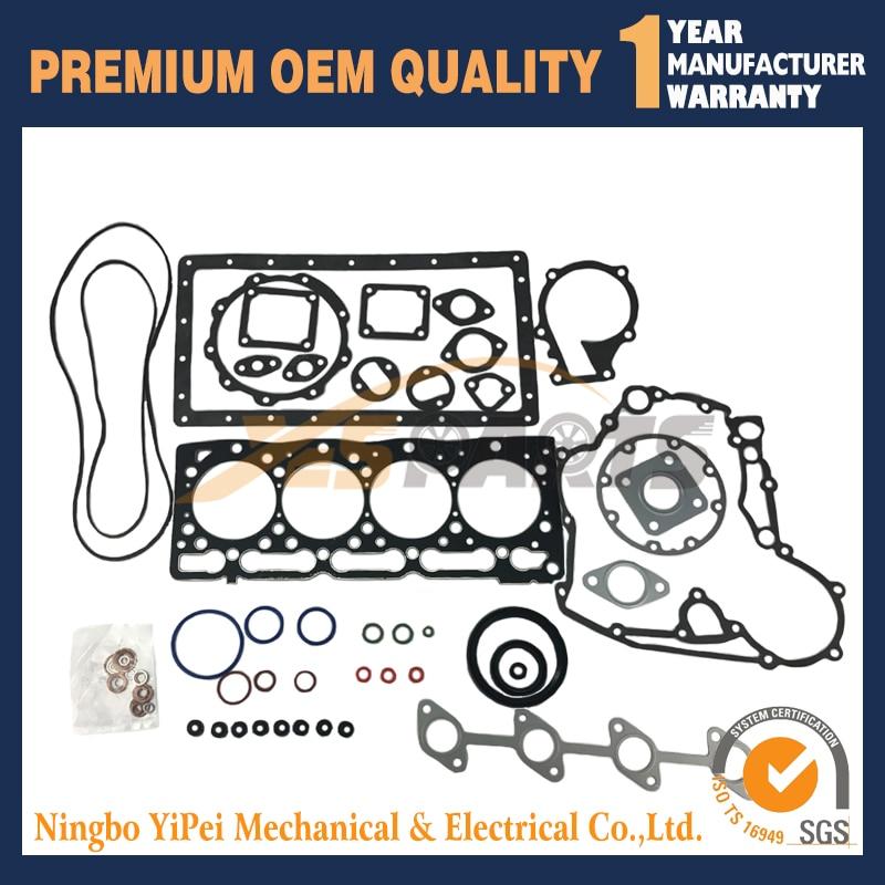 For Kubota V1505 V1505-E Full Engine Gasket Set For Kubota Tractor 16285-99352 16394-03310 недорго, оригинальная цена