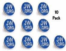 دبوس مستدير أزرق طية صدر السترة JW.org رابطة عنق قبعة تاك كليب النساء أو الرجال الدعاوى Round 10 قطعة