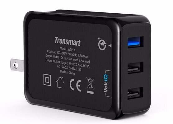 Tronsmart W3PTA USB Charging Qualcomm Certified Quick Charge 3.0 QC3.0 USB Smart Charger 6