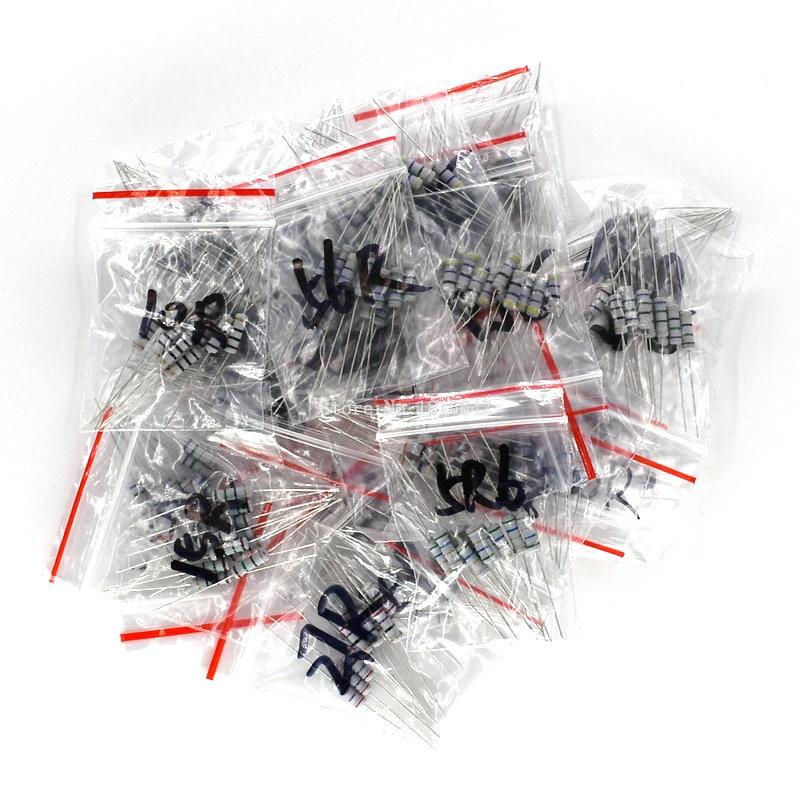 300pcs Resistor Kit 1W 5% 30values X 10pcs Carbon Film Resistance 0.1-750 Ohm Set 1Watt Resistance Assorted Assortment Pack