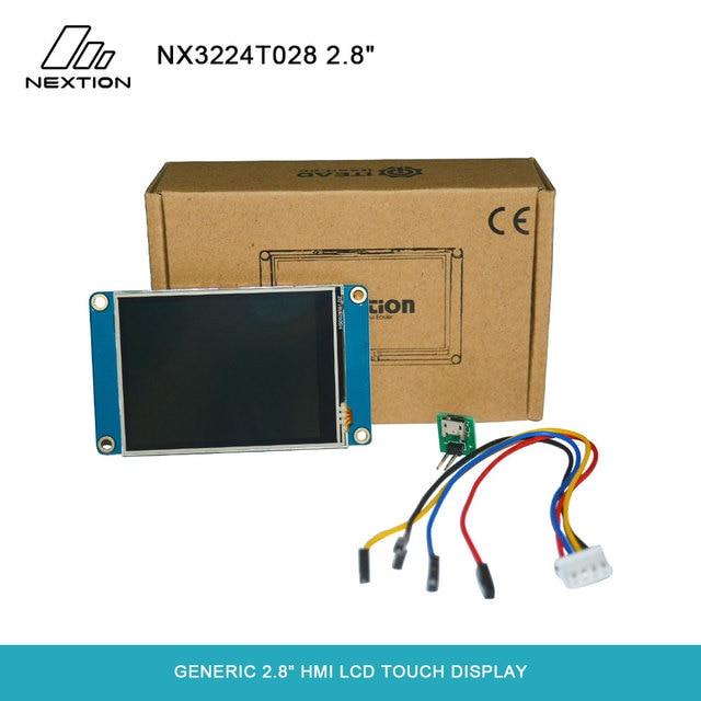 Nextion NX3224T028   2.8 HMI ذكي شاشة تعمل باللمس TFT وحدة LCD 4 أسلاك لوحة مقاوم اللمس لمطور اردوينو