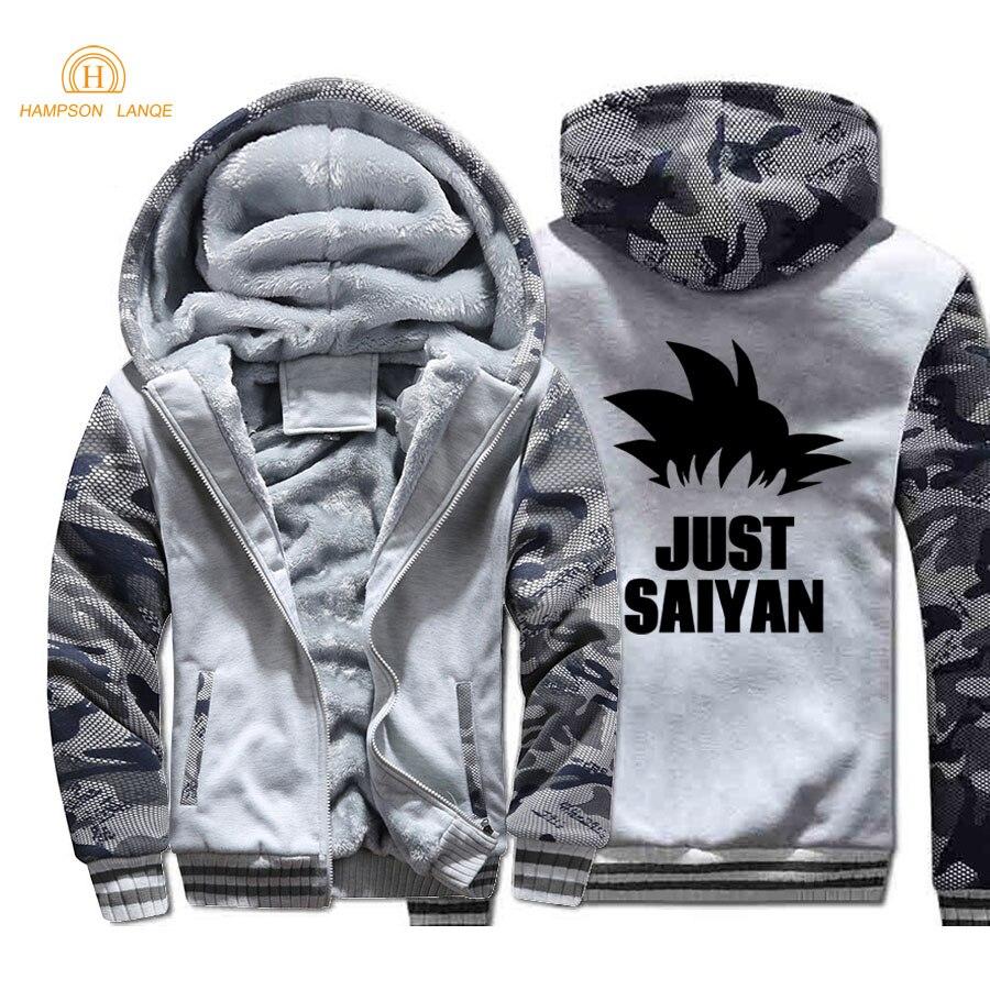 Beautiful 2018 Autumn Winter Jackets Anime Dragon Ball Z Sweatshirt Men Fashion Streetwear Fleece Hoody Mens Sportswear Harajuku Jacket Men's Clothing