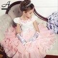 Высочайшее Качество Принцесса платья девушка Дети Формальные Свадьба Крещение Платье платье принцеса menina vestido де феста infantil