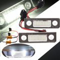 1Pair 7000K 18 LED License Number Plate Light Lamp For Skoda/Octavia/Roomster/5J White Canbus Error Free