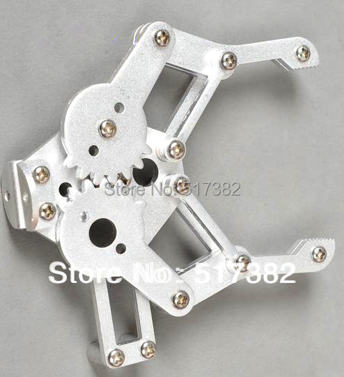 Freeship 1set 2 DOF Aluminium Robot Arm Clamp Claw Mount Kit (No Servo) Un-assembly Fit For Arduino