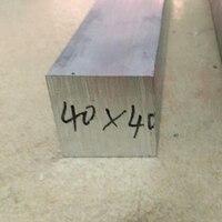 40x40x 100mm Länge 6061 Aluminium Platz Rechteckige Flache Bar/Platte DIY