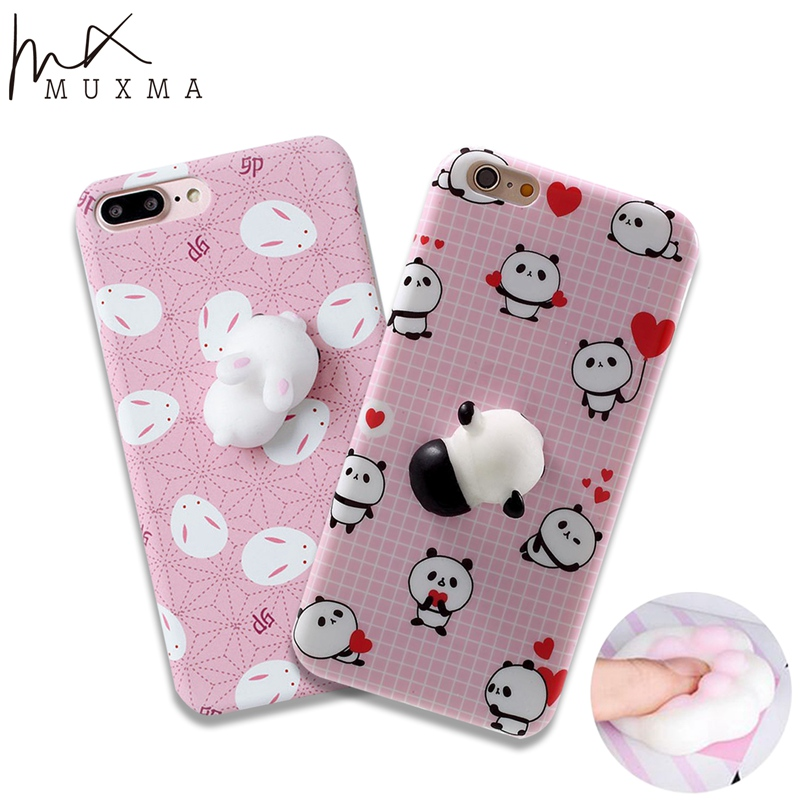 Squishy Cases Iphone 7 : MUXMA Squishy Case For Apple iphone 7 Panda Sea Lions 3D Squeeze Cover Soft Silicone ...