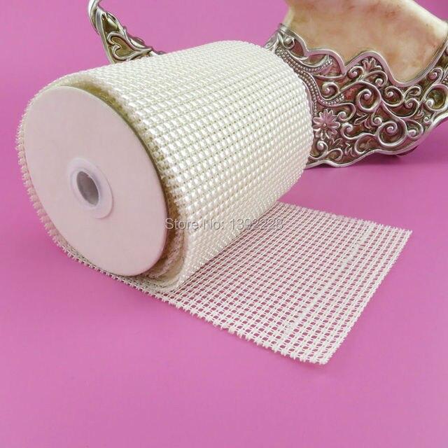 Beige/Marfil 5.5 yard/rollo abs perla suministros de costura para ...
