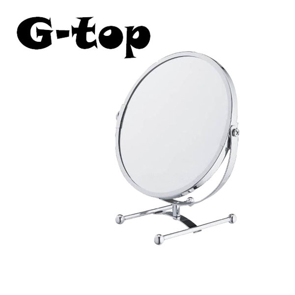 Table Mirror 360 Degree Hd Spinning Make Up Cosmetic Magnifying 1X 2X  Bathroom Stand Mirror Desktop