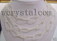 White Freshwater Pearls Seed Bead 3 4mm Necklace 48