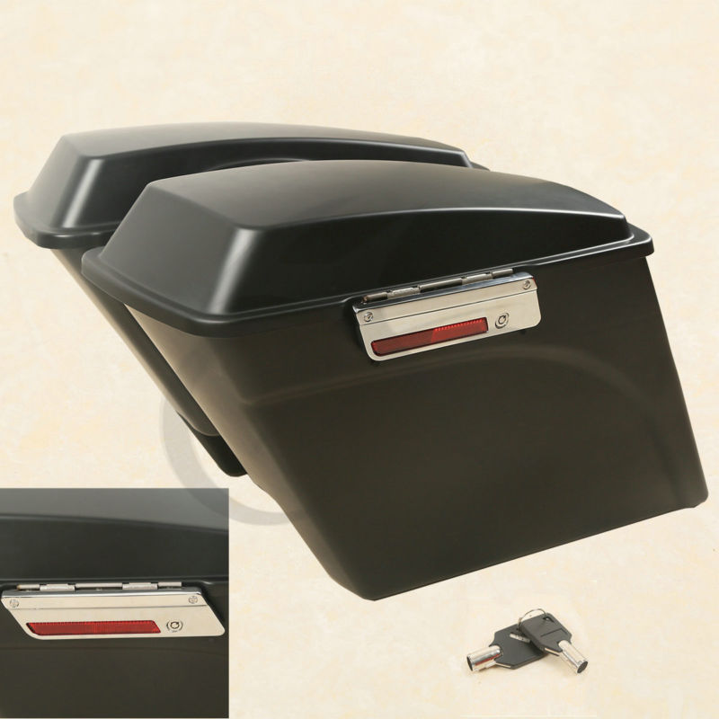 Matte Black 5 Stretched Hard Saddle Bags Latch Side bag For harley road king Road Street Glide Softail DYNA and Sportster 93-13 в мире чисел и цифр учебно методическое пособие фгос