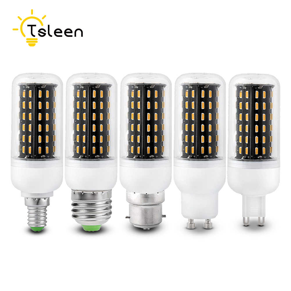 TSLEEN High Quality 4014 SMD LED Corn Bulb E27 E14 220V LED Lamp Light B22 G9 GU10 36 56 72 96 138LEDs Lampadas Led Spotlight