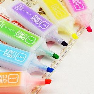 Stationery neon pen large capacity candy color neon pen scrub pen