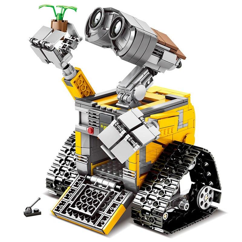 RC télécommande mur E Robot C Figure blocs de construction briques modèle jouets Compatible avec 16003 Technic 21303 - 3