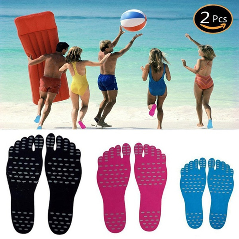1 Pair Summer Beach Stealth Anti-skid Pads Waterproof Anti-skid Sandals Nano Material Foot Insole Outdoor Sport Foot Pad SML