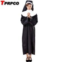 Дева Мэри сестра монашка костюм для женщин взрослых Хэллоуин вечерние маскарадные костюмы платье халат