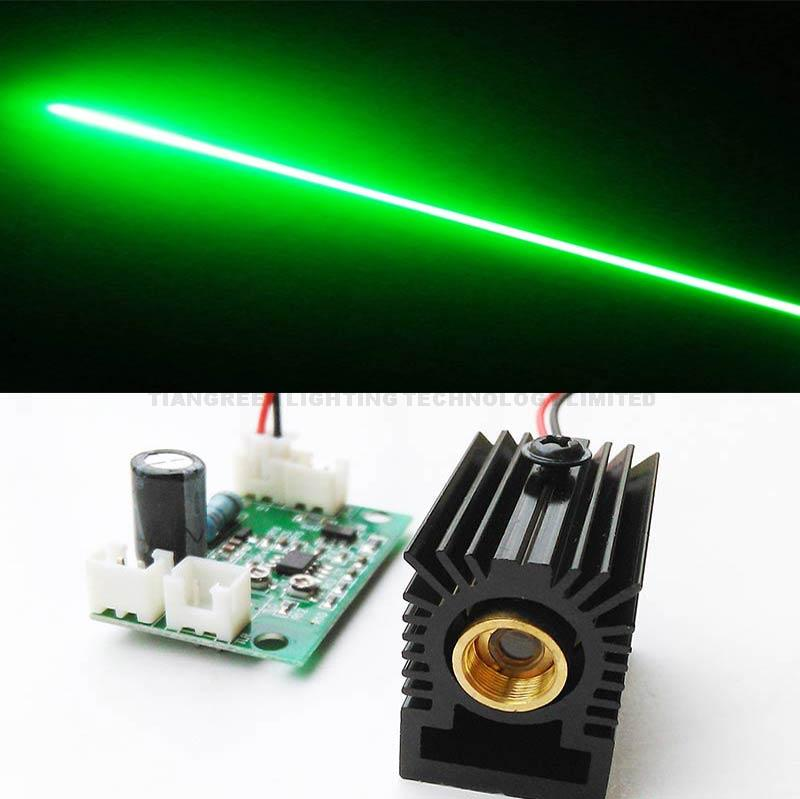 100mW Diode Laser 532nm Green Laser Module with Heat Sink and DC5V TTL Driver