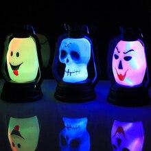 Хэллоуин водонепроницаемый скелет голова Ночной свет градиент мигающий фонарь ведьма Свет декор для Хэллоуина, вечеринки поставки