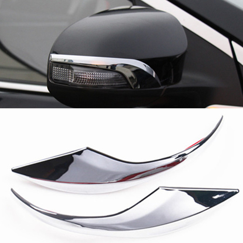 For Toyota Yaris 2012 2013 2014 Silver Color Mirror Overlay Rear View Cover Trim