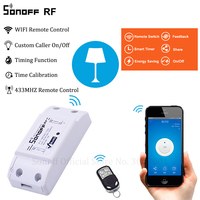 Sonoff RF WiFi Smart Switch Interruptor 433Mhz RF Receiver Intelligent Remote Wireless Control For Smart Home Wi-fi Light Switch Home Automation Modules