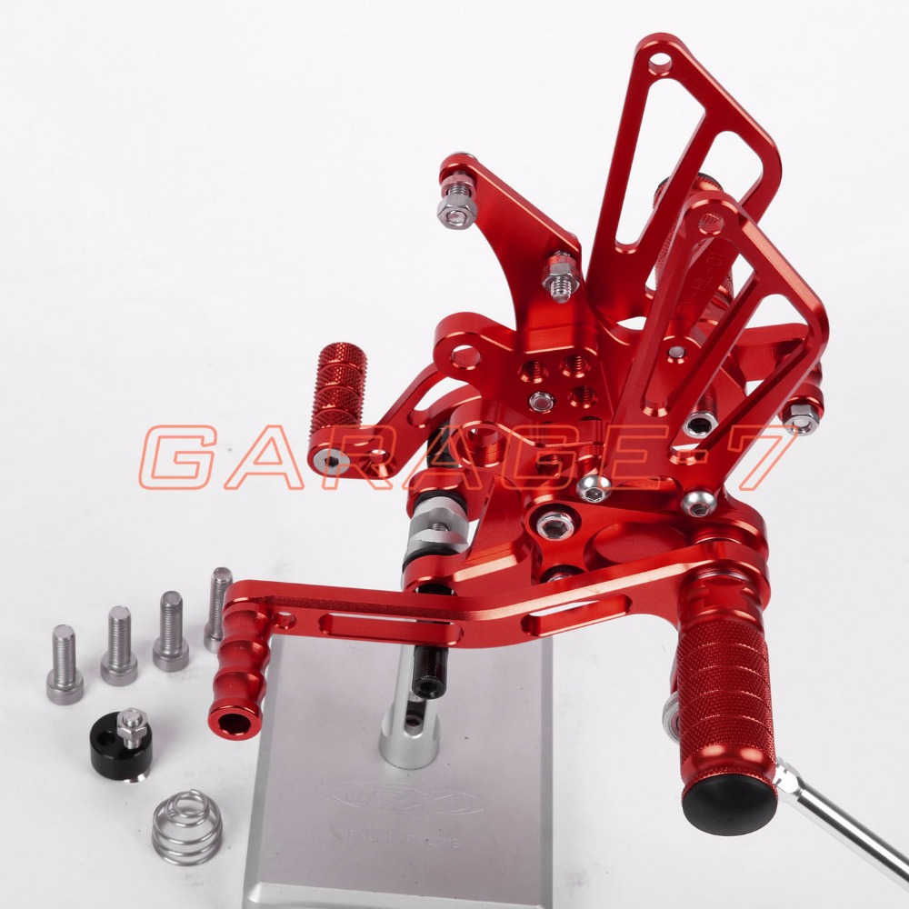 CNC Rearsets Foot Pegs Rear Set For Benelli BJ600GS 2010-2013 Hot Sale Red Color 2012 2011