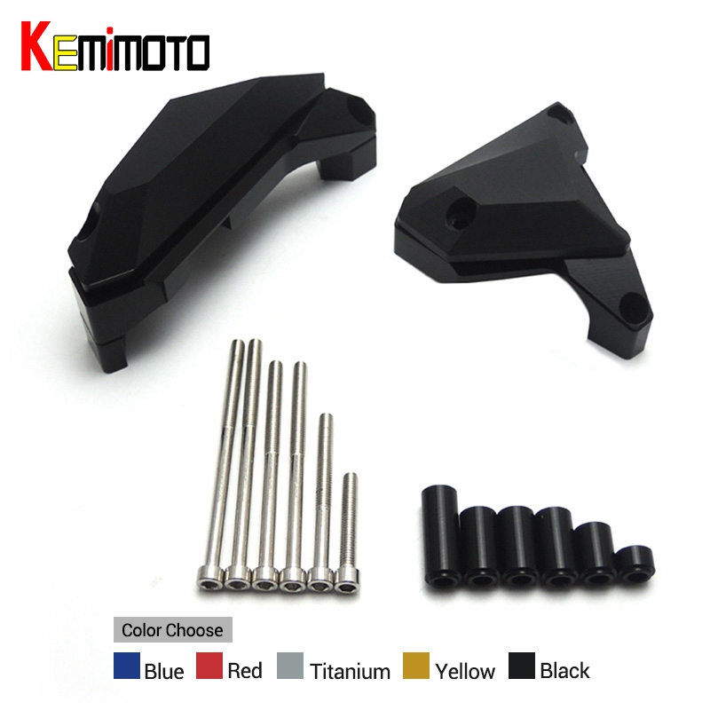 цена на KEMiMOTO MT-07 MT 07 Motorcycle Engine Guard For YAMAHA MT07 FZ 07 FZ07 2014-2017 Engine Guard Case Slider Cover Protector Set