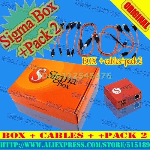 Gsmjustoncct coffret Sigma avec 9 câbles Set + Sigma Pack 2 Activation pour Zte pour Motorola