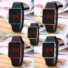 Colorful Rectangle Digital Watches for Children 2018 New Silicone LED Display Sports Kids relogio infantil montre enfant
