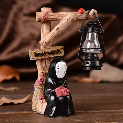 Faceless night light Creative bedroom adornment cartoon LED small desk lamp without face monarch thousand people statues dies