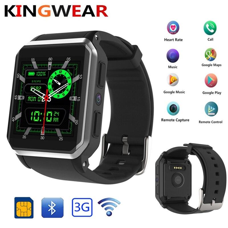 KingWear Kw06 android 5.1 OS Smart uhr elektronik android 1.39 zoll mtk6580 SmartWatch telefon unterstützung 3G wifi nano SIM WCDMA