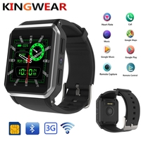 KingWear Kw06 android 5.1 OS Smart watch electronics android 1.39 inch mtk6580 SmartWatch phone support 3G wifi nano SIM WCDMA