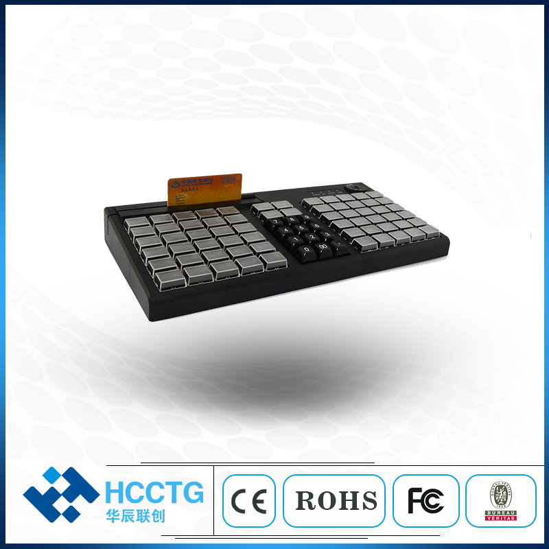 76Keys Programmable POS Keyboard KB76M With Dual Interface USB PS/2
