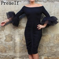 WOMEN-Autumn-SEXY-dresses-OFF-SHOULDER-FLARED-SLEEVE-SPLEAT-PARTY-CLUB-BODYCON-SLIM-plus-size-DRESS.jpg_200x200