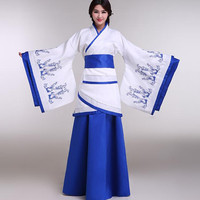Chinese ancient costume clothing tang suit Hanfu women's clothes traditional Chinese dance costumes