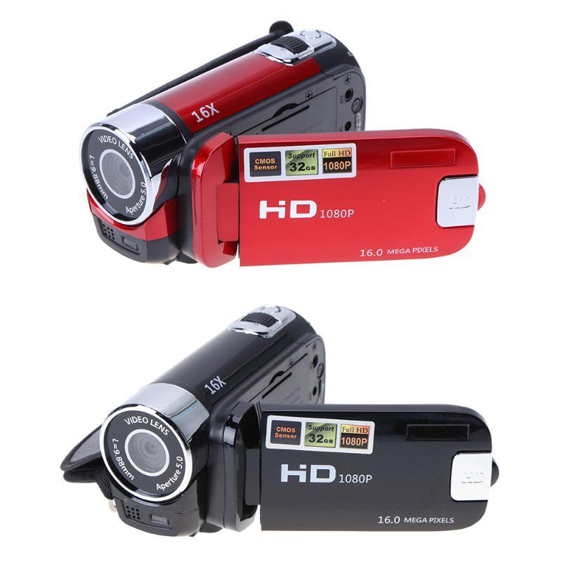 Travel Home Use Digital Video Camera HD 1080P 32GB 16x Zoom Mini Camcorder DV Camera Support AVI 1080P 720P VGA for SD/HCSD 32G