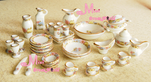 Free Shipping 1 12 Scale Toy Dollhouse Miniature Porcelain