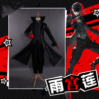 Cosplay Costume Persona 5 Joker Anime Cosplay Full Set Uniform with Red Gloves Adult for Party Halloween